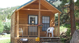 Comfort Cabin at RV Park Estes CO