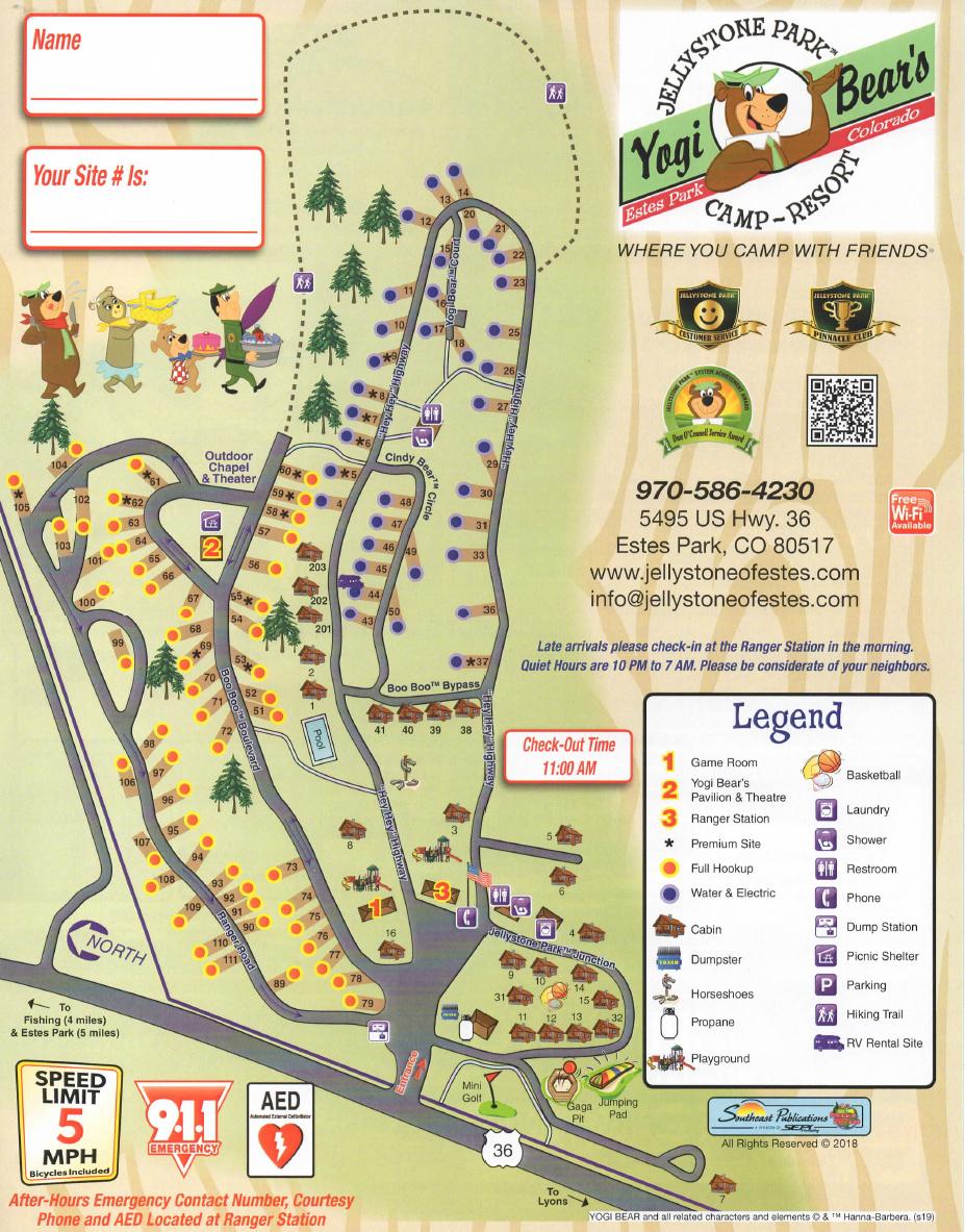 Park Map - Yogi Bear's Jellystone Park